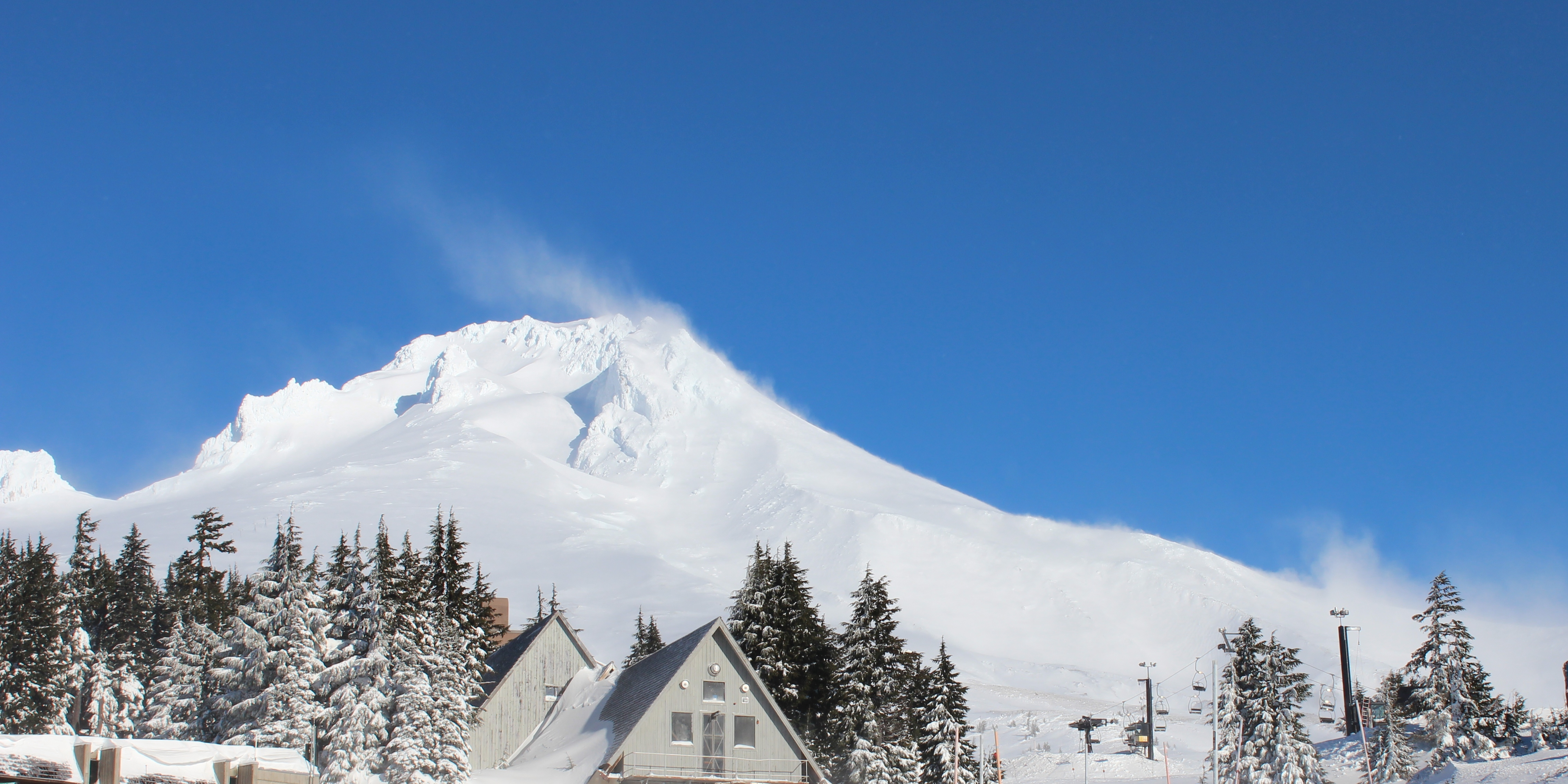 Wind rearranges the early season snowpack on Mount Hood, Oregon. NRCS photo by Spencer Miller