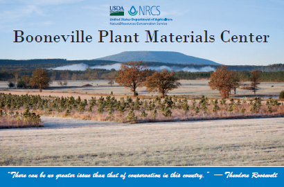 Image of cover of Booneville Plant Materials Center brochure