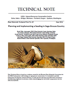 Cover of Planning and Implementing a Seeding in Sage-Grouse CountryPlanning and Implementing a Seedi