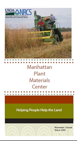 Cover of Manhattan Plant Materials Center brochure