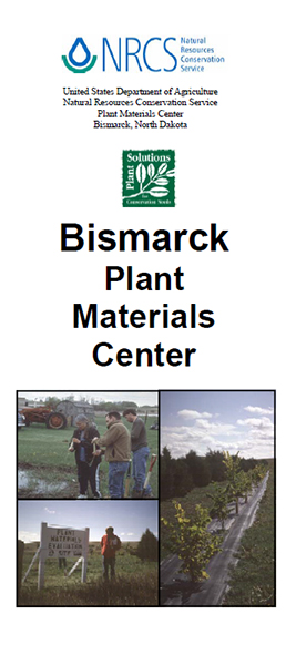 Cover of Bismarck Plant Materials Center brochure