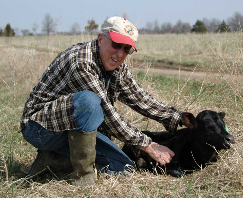 Fred Martz of Columbia utilizes rotational grazing on his land.