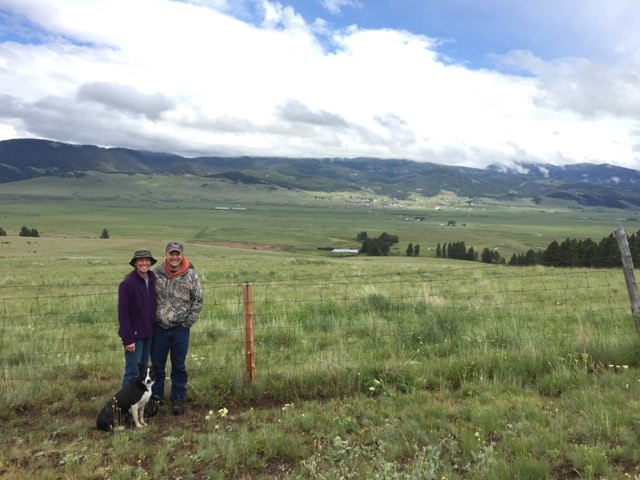 Joleen Meshnik and Tim Hilmo on their JT Ranches Conservation Easement.