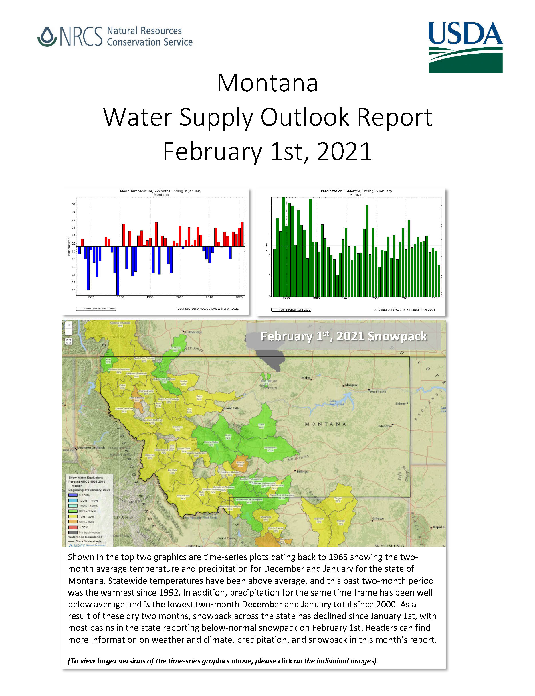 Montana Basin Outlook Report - March 1, 2018