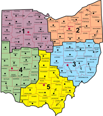 Ohio NRCS Area Map