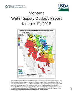 Basin Outlook Reports | NRCS Montana