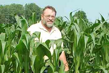 NRCS State Agronomist Jerry Grigar on his farm in Gratiot County