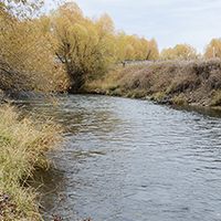 Big Spring Creek, near Lewistown, was straightened through the Machler property in the 1960s.