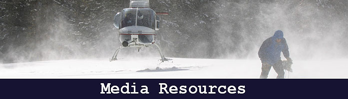 Snow survey resources for press and media