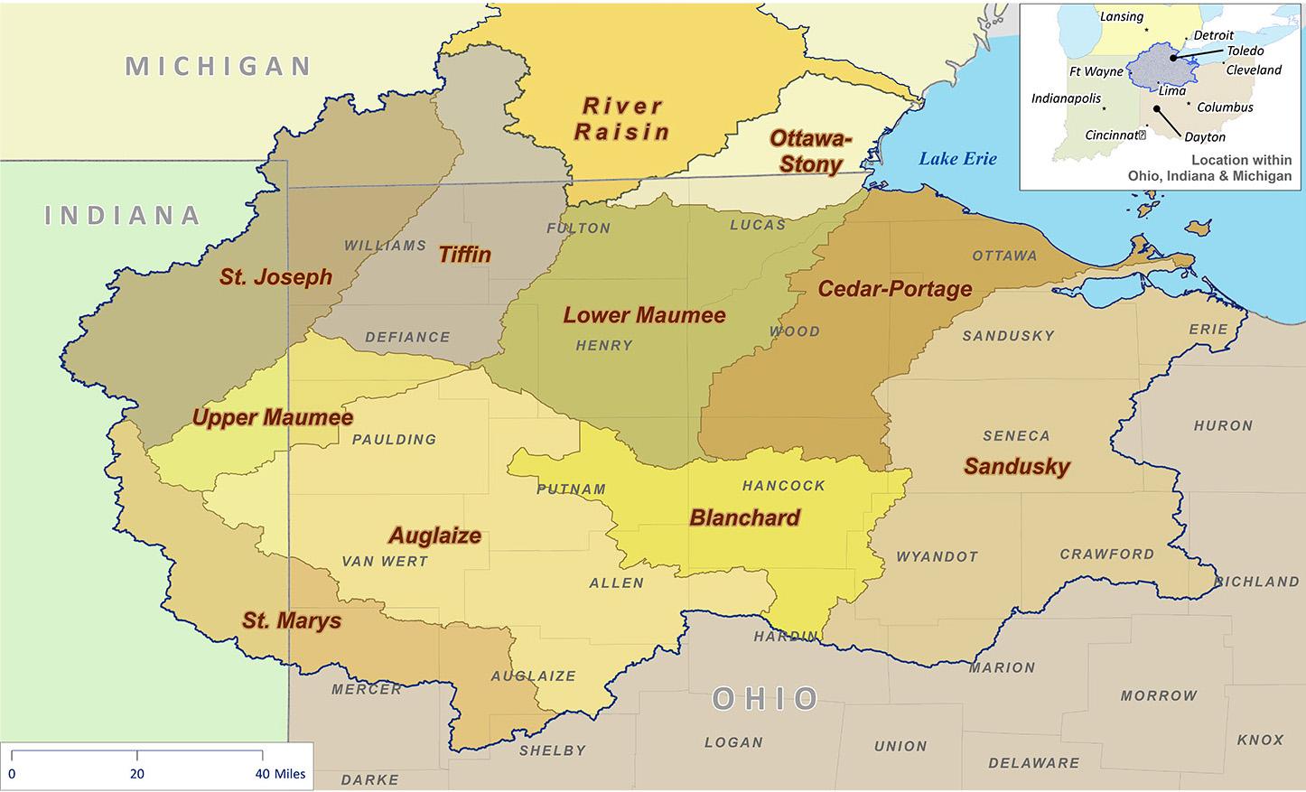 western lake erie map Western Lake Erie Basin Project Nrcs Ohio western lake erie map